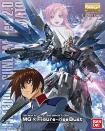 1/100 MG ZGMF-X10A Freedom Gundam Ver.2.0 & Kira Yamato