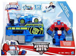 Transformers Rescue Bots Optimus Prime Racing Trailer