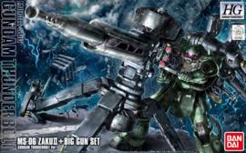 1/144 HGGT MS-06 Zaku II & Big gun (Gundam Thunderbolt ONA Ver.)