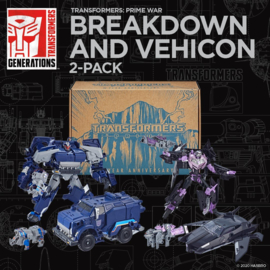 Hasbro Prime War Breakdown and Vehicon 2-Pack