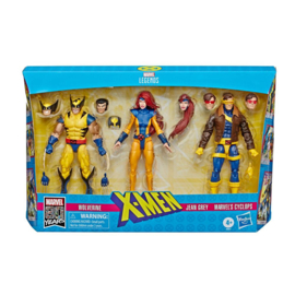 Marvel Legends 80th Ann. 3-Pack X-Men Wolverine, Jean Grey & Cyclops