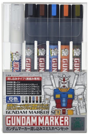 Gundam Marker GM-122 Extra Thin Type For Panel Lines Set
