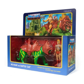 Masters of the Universe ReAction AF 2-Pack He-Man & Battlecat - Pre order