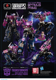Flame Toys Kuro Kara Kuri Shattered Glass Optimus Prime - Pre order