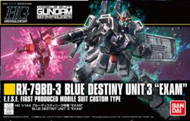 1/144 HGUC RX-79BD-3 Blue Destiny Unit 3 Exam