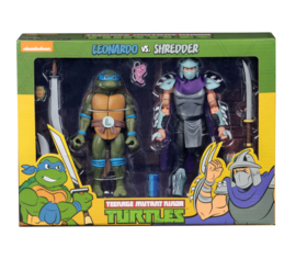 NECA TMNT Action Figure 2-Pack Leonardo vs Shredder
