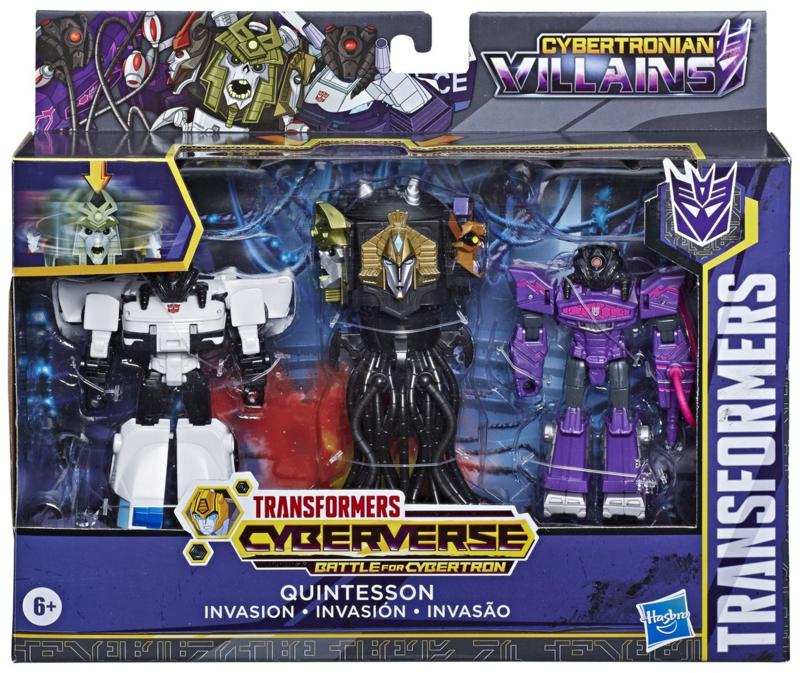 Hasbro Cyberverse Quintesson Invasion 3-Pack