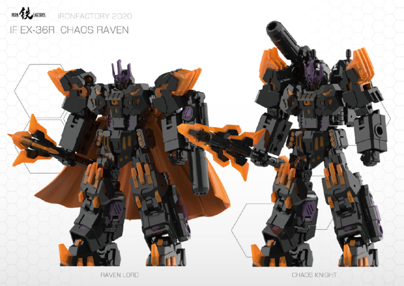 Iron Factory IF EX-36R Chaos Raven - Pre order