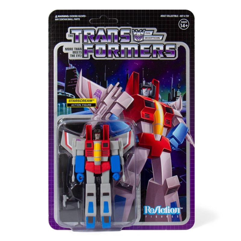 Super 7 Transformers ReAction Starscream - Pre order
