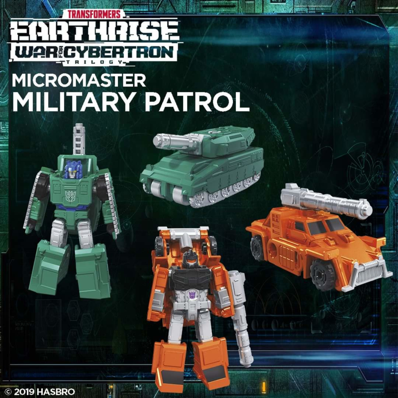 Transformers Earthrise Micromasters Military Patrol - Pre order