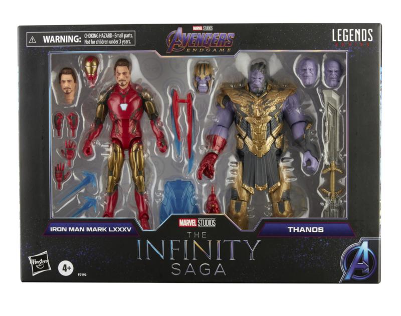 Marvel Legends AF 2-Pack The Infinity Saga Iron Man & Thanos - Pre order