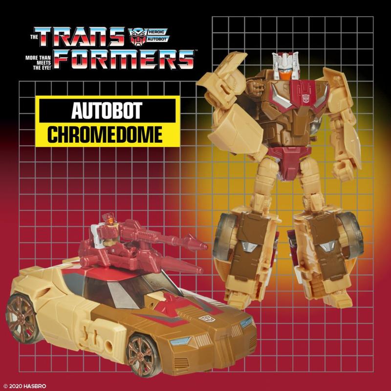 Hasbro Retro Headmasters Deluxe Chromedome - Pre order