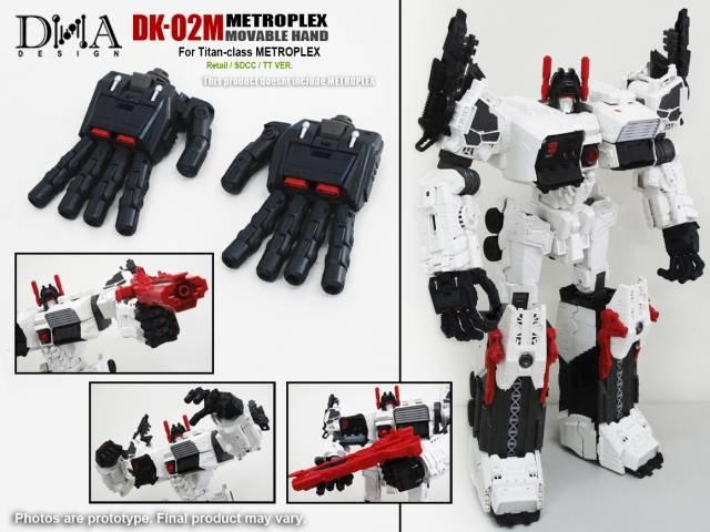 DNA DESIGN DK-02M Movable Hand Kits for Metroplex