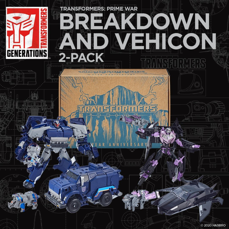 Hasbro Prime War Breakdown and Vehicon 2-Pack - Pre order