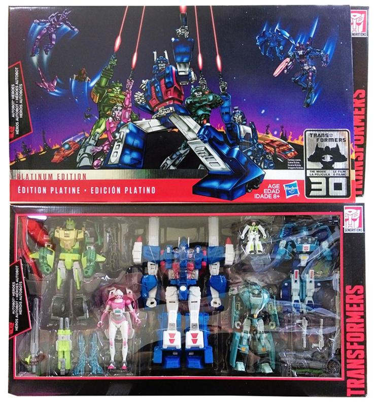 Hasbro Platinum Edition boxset Autobots Heroes
