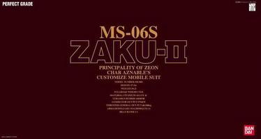 1/60 PG MS-06S Char's Zaku II