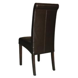 2 kunstlederen stoelen met ronde rugleuning