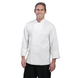 Chef Works Le Mans heren Koksbuis - 6 maten - Wit
