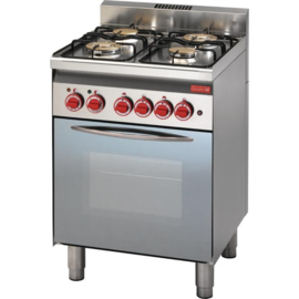 Gasfornuis met oven en grill - 4 branders - 14,7kW