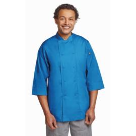 Chef Works Koksbuis - driekwart mouwen - 6 maten - blauw