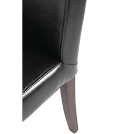 2 Zwarte kunstlederen stoelen van Bolero