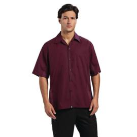 Heren T-shirt - Chef Works Cool Vent - Beschikbaar 4 maten - Kleur: Bordeaux