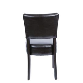 2 Donkerbruine Robuuste kunstlederen stoelen