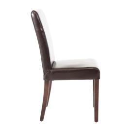 2 Donkerbruine Kunstlederen stoelen