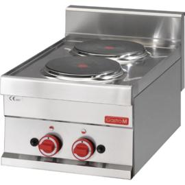 Elektrische kookplaat - 2x Ø220mm - 3kW/400V