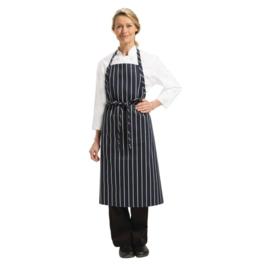 Chef Works Premium Schort - Kleur: Blauw/Wit gestreept