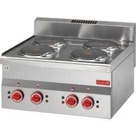 Elektrische kookplaat - 4x Ø220mm kookzones - 6kW