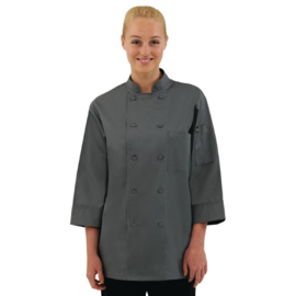 Chef Works Koksbuis - driekwart mouwen - 6 maten - grijs