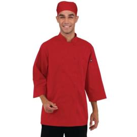 Chef Works Koksbuis - 6 maten - unisex - Kleur rood