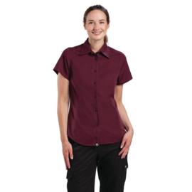 Dames T-shirt - Chef Works Cool Vent - 4 maten Beschikbaar - Kleur: Bordeaux