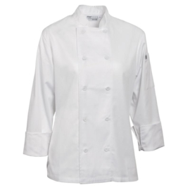 Chef Works Marbella dames Koksbuis - 5 maten - Wit