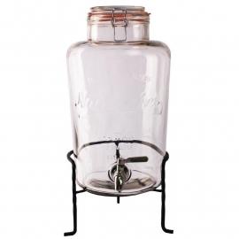 Olympia Glazen retro waterdispenser met voet inhoud 8,5 liter