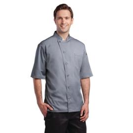 Chef Works Valais heren Koksbuis - korte mouwen - 4 maten - Grijs