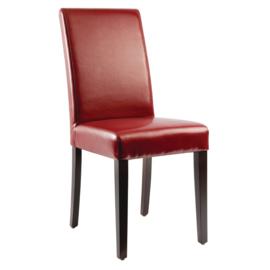 2 Rode Bolero kunstlederen stoelen