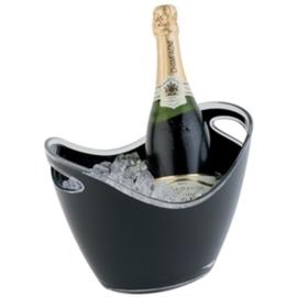 Champagne koeler zwart klein