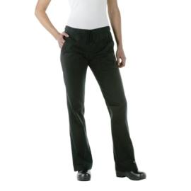 Zwarte Dames Pantalon - Chef Works - 5 maten beschikbaar