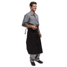 Chef Works taps toelopende sloof - Kleur: Zwart