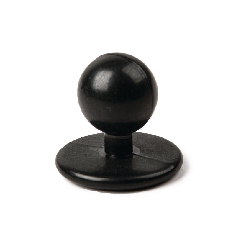 Zwarte bolknopen voor koksbuis Whites en Chef Works - 12 stuks