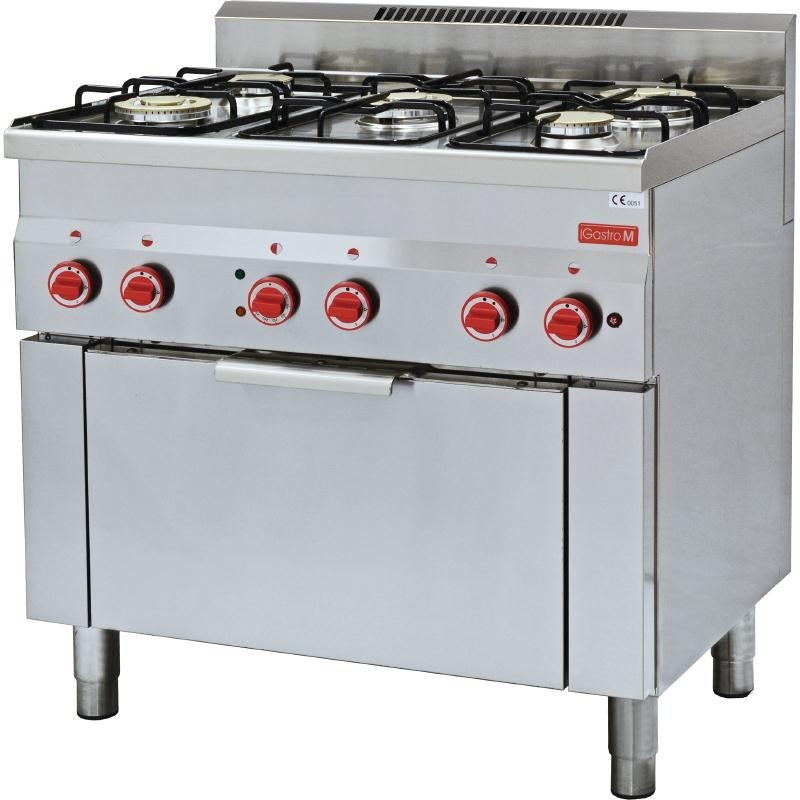 Gasfornuis - 5 pits incl oven en grill - 17,4kW/230V