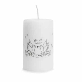 Rustik Lys pillar candle medium with print