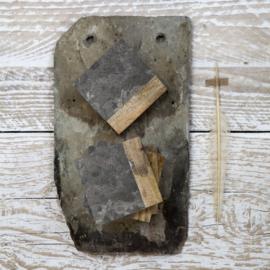Dassie onderzetters Makrana marble grijs (set van 4)