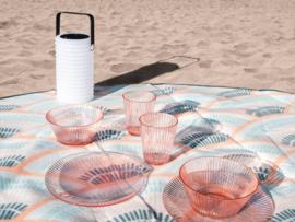Gusta waterglas nude transparant (set van 4)
