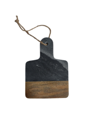 Dassie mini serveerplank marble grijs