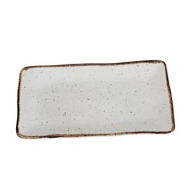 Kitchen Trend rechthoekige schaal middel Stone creme