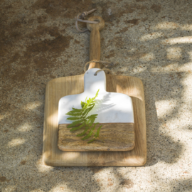 Dassie mini serveerplank marble wit