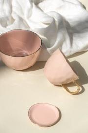 UNC  Good Morning kom pink met gouden randje